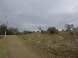 Statue d'artigas sur le cierro artigas
