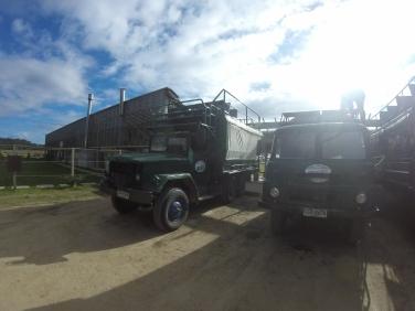 Les camions pour acceder a cabo