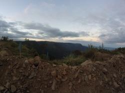 Vu des canyons au fond
